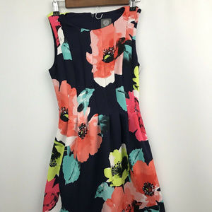 Vince Camuto Floral Sleeveless Dress Fit N Flare